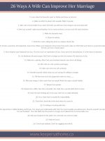 25 ways Improve Marriage
